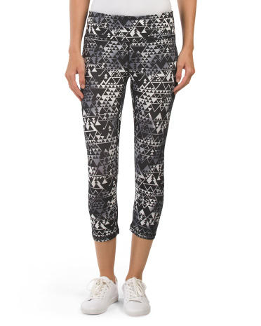 Transposition Print Crop Pants