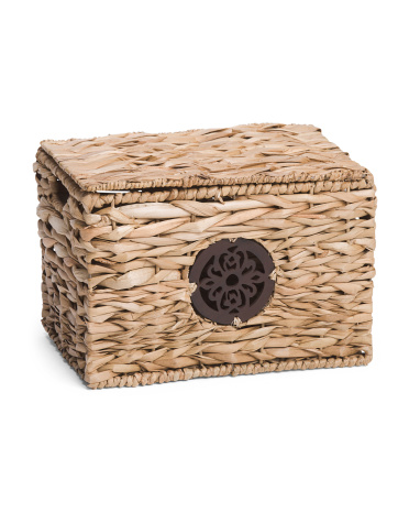 Small Natural Trunk With Medallion