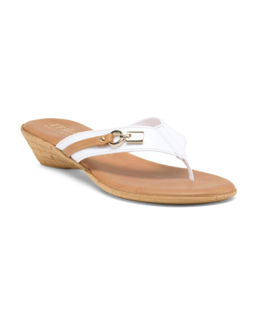 Made In Italy Spice Thong Sandals