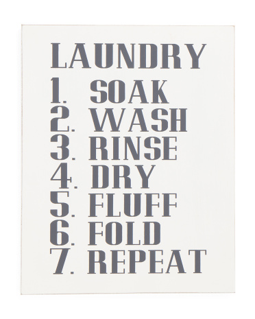 16x20 Laundry Rules Sign