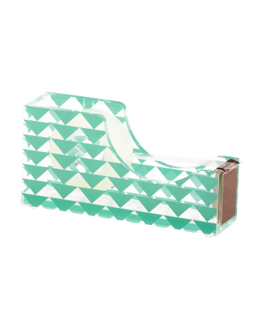 Triangle Printed Acrylic Tape Dispenser