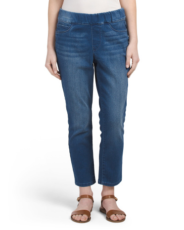 Thea Pull On Crop Jeans