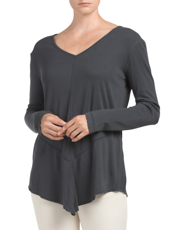 Seamed Asymmetrical Hem Top