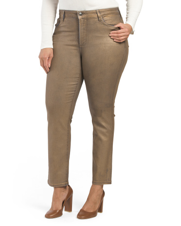 Plus Made In Usa Sheri Matte Skinny Pants