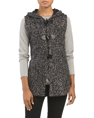 Hooded Toggle Sweater Vest