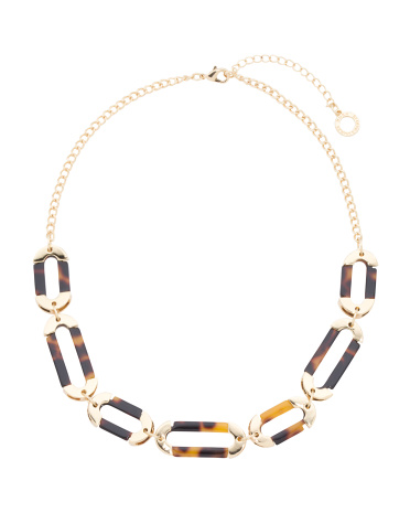 Multi Link Resin Statement Necklace