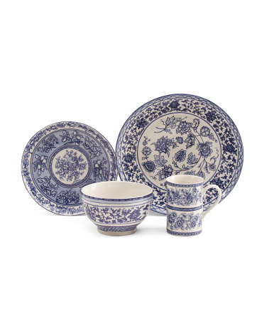 32pc Blue Dynasty Dinnerware Set