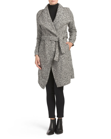 Faux Wool Wrap Coat