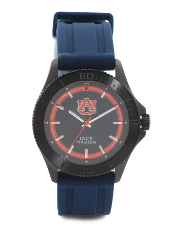 Men's NCAA Auburn Tigers Silicone Strap Watch