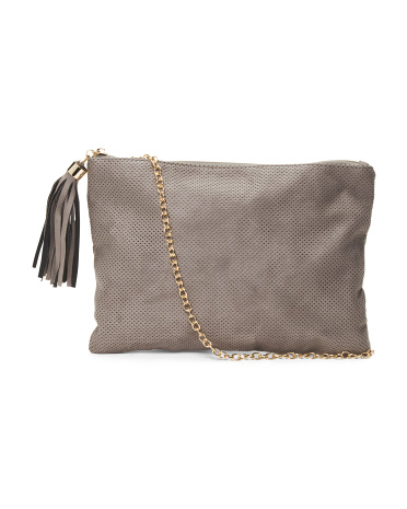 Top Zip Pouch With Tassel