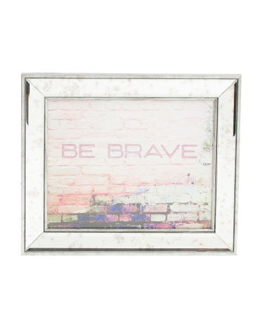 8x10 Distressed Mirrored Frame