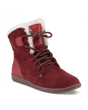 Merino Wool Lined Suede Boots