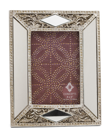 4x6 Geometric Metallic Frame