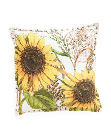 20x20 Sunflower Postcard Pillow