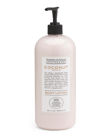 32oz Coconut Vanilla Body Lotion