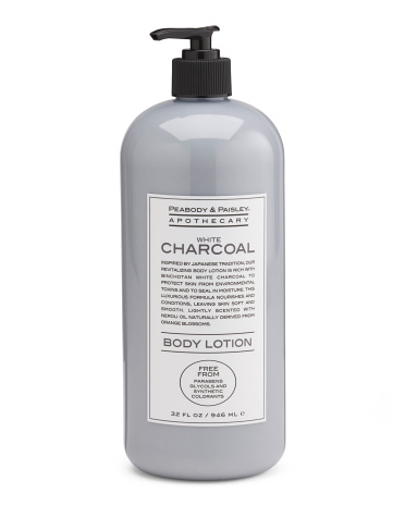 32oz White Charcoal Body Lotion