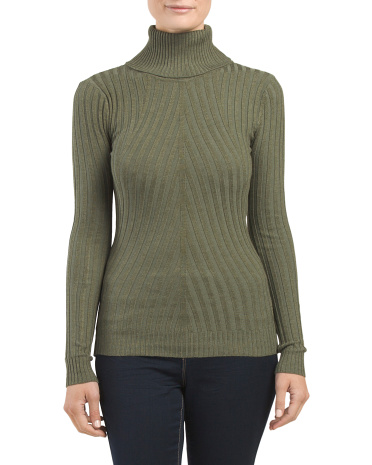 Juniors Ribbed Turtleneck Sweater
