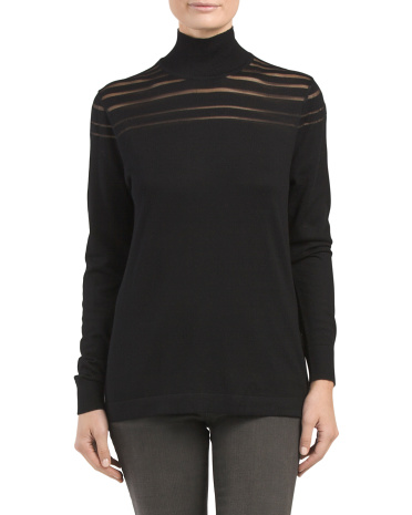 Illusion Turtleneck Sweater