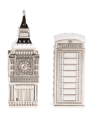 Big Ben & Phone Booth Salt And Pepper Shakers