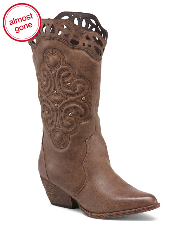 Mid Shaft Western Boots