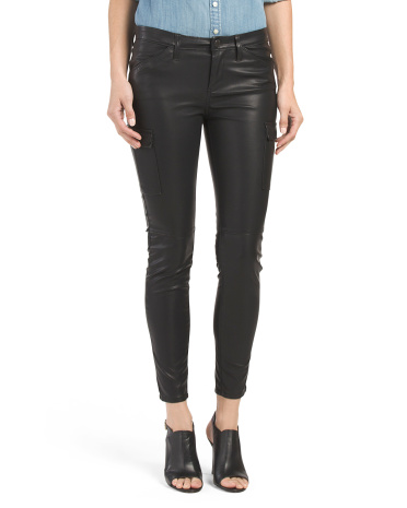 Faux Leather Skinny Moto Pants