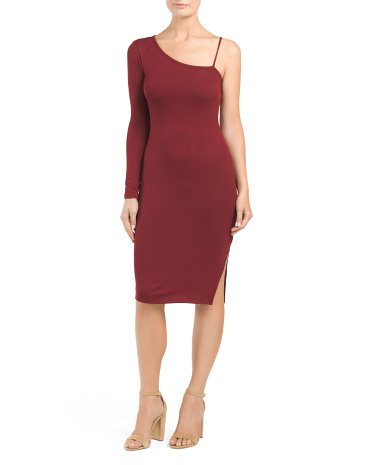 Juniors Made In Usa Ribbed Bodycon Dress
