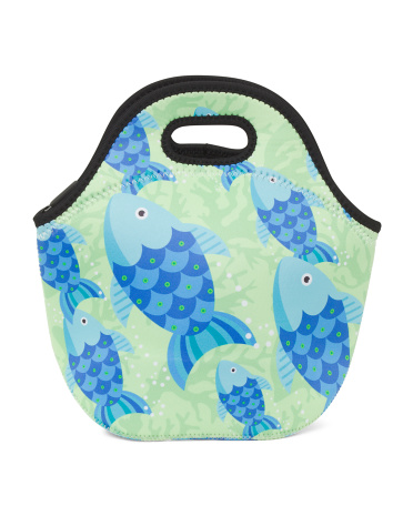 Bright Animals Lunch Tote