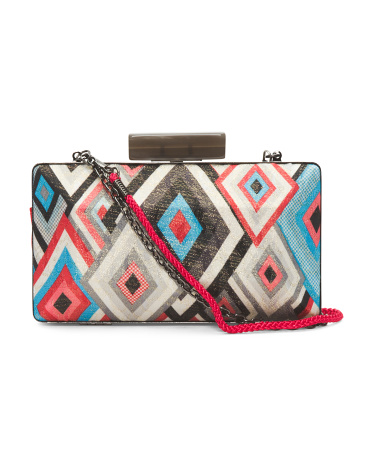 Multicolor Abstract Pattern Clutch