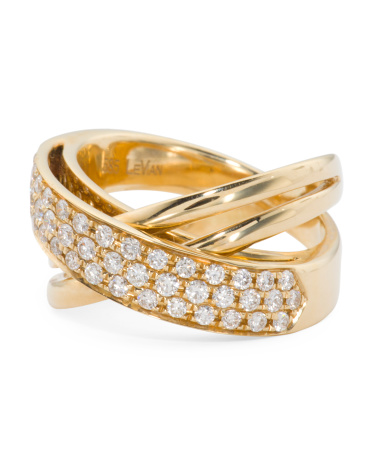 14k Gold And Diamond Gladiator Ring