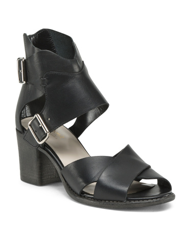 Beverlyn Leather Block Heels