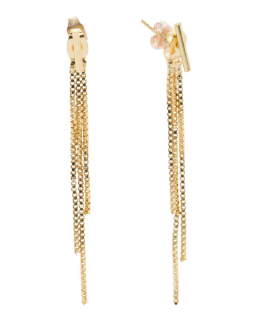 Fringe Cascade Earrings In Gold Tone
