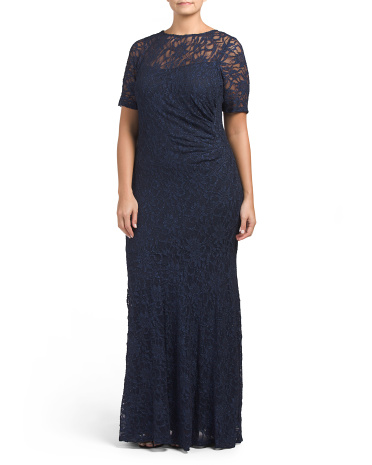 Plus Full Lace Gown