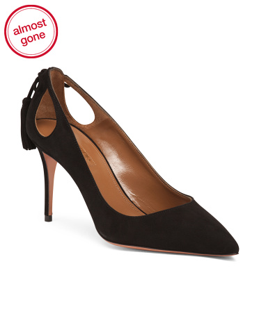 Made In Italy Cutout Suede Pumps