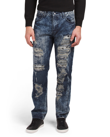 Rip And Repair Moto Jeans