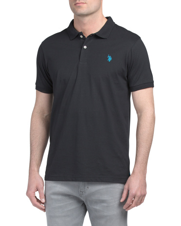 Short Sleeve Interlock Slim Fit Polo