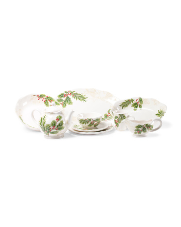 Holly Toile Serveware Collection
