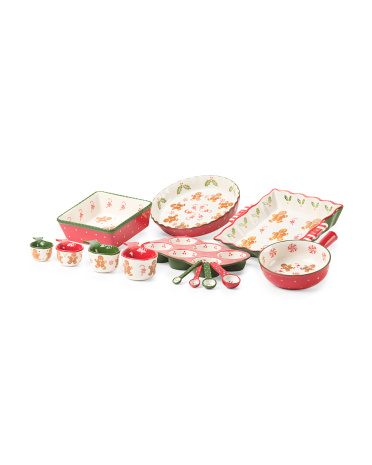 Gingerbread Ceramic Bakeware Collection