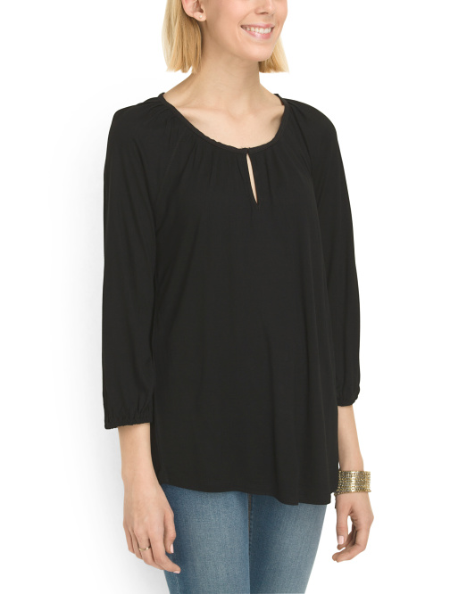 Raglan Sleeve Peasant Top