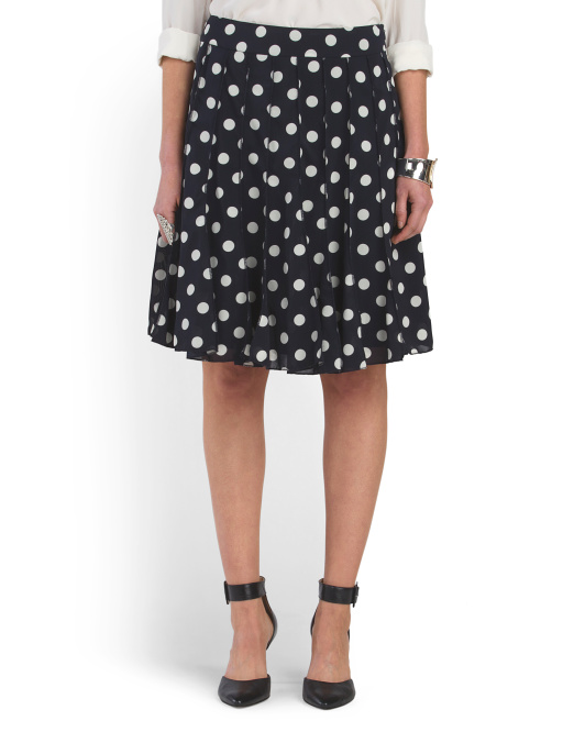 Polka Dot A Line Skirt