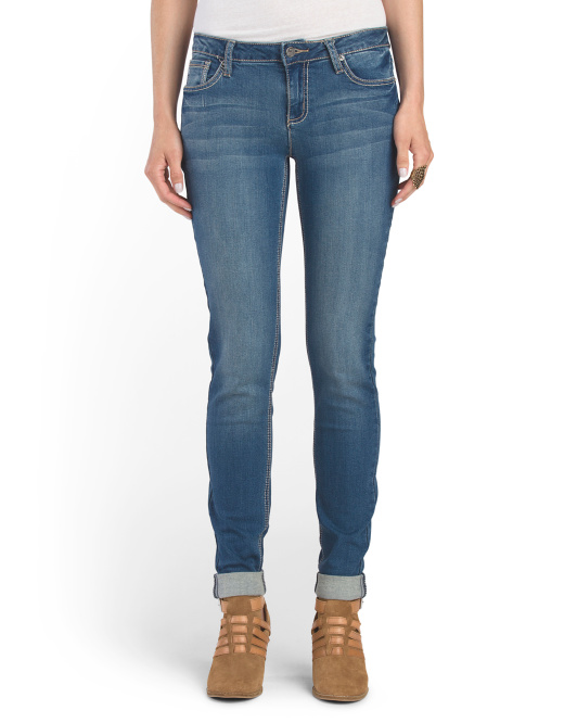 Cuffed Ankle Embellished Jean