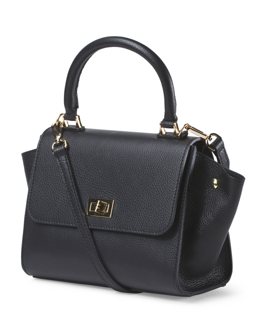 Made In Italy Leather Convertible Satchel