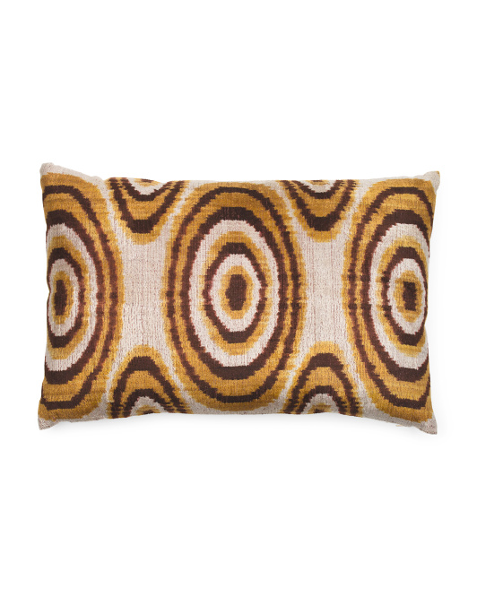 23x15 Silk Velvet Orbit Pillow