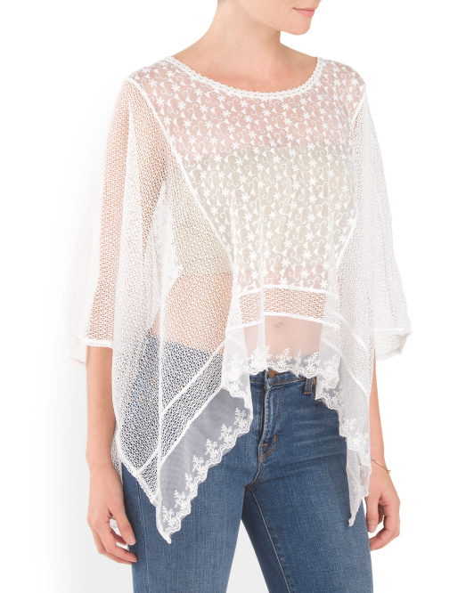 Winged Lace Poncho