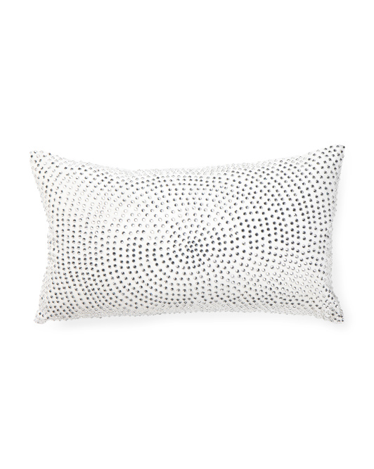 Made In India 14x24 Velvet Crystal Pillow