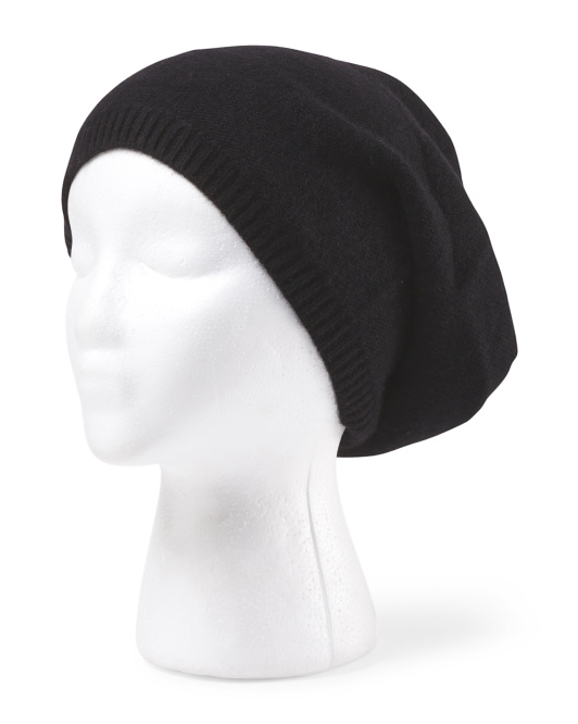 Cashmere 2 Ply Slouchy Unisex Hat