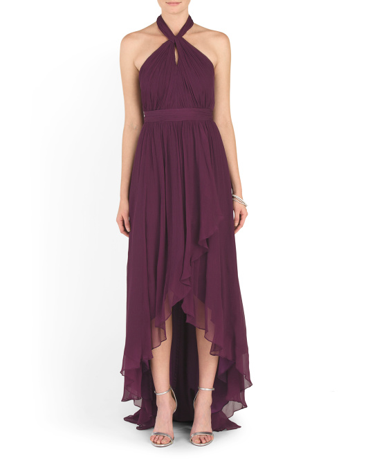 Silk Olivia Bridesmaid Halter Dress
