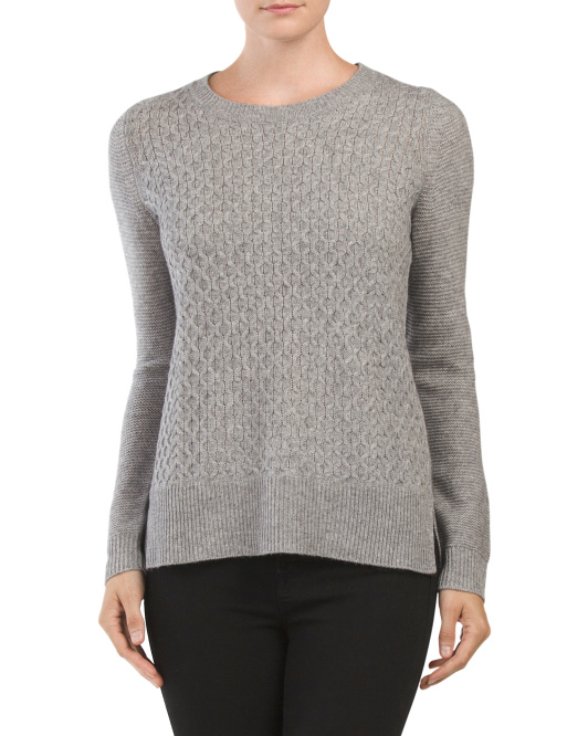 Crew Neck Pullover Cashmere Sweater