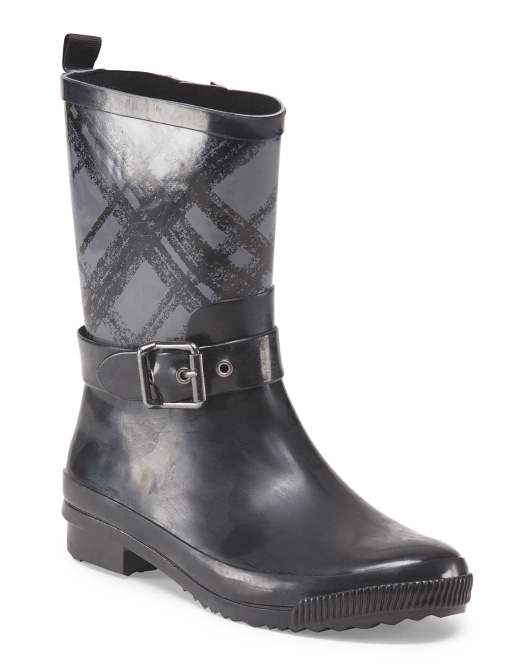 Plaid Rubber Boot