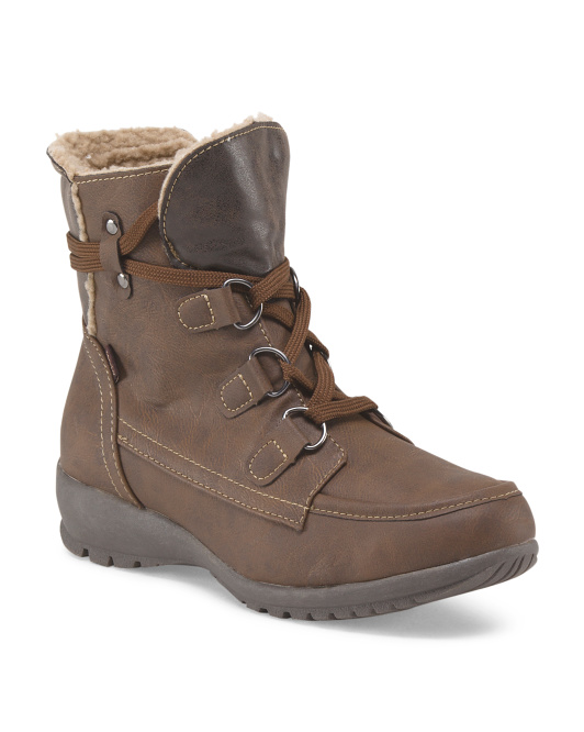 Lace Up Hiker Bootie