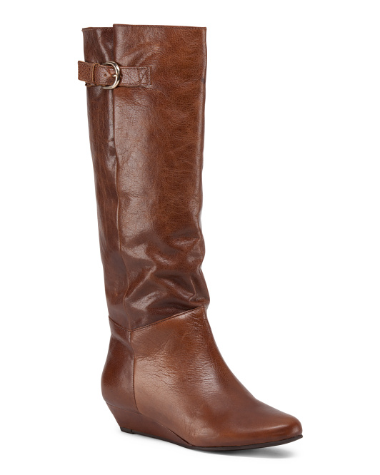 Leather Intyce Wedge Boot
